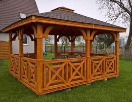 5x5m altana ogrodowa 5x5 altanka z drewna 5x5 altanki altany drewniane