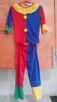 Карнавальный новогодний костюм клоуна 4-6 лет