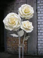Ростовые цветы для декора свадебного торжества, фотозон