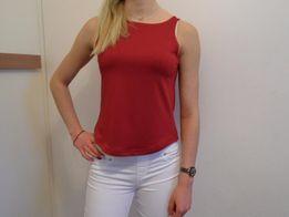 Bordowy crop top na ramiączkach bluzka r.XS basic tumblr insta j.nowy