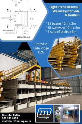 •Light Crane Beams and Walkways for sale
