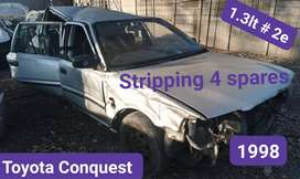 Toyota conquest 1.3lt #2e 1998 stripping for spares