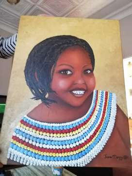 Painting LERATO (Song of my soul)