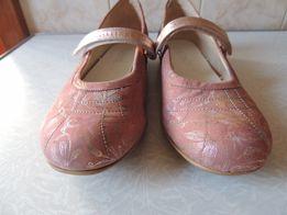 Спортивные кожаные балетки с цветочным принтом,р39