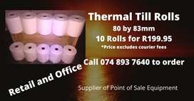 80 by 83mm Thermal Till Rolls