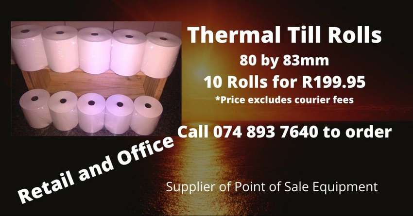 80 by 83mm Thermal Till Rolls 0