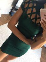 Nowa sukienka ażurowa s zielona