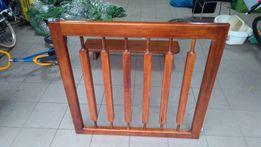Barierka ochronna na schody drewniana jesion