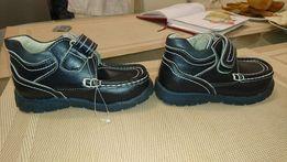 Осенние ботинки на мальчика, кожа. Размер 25
