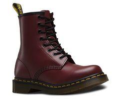 Женские ботинки Dr. Martens 1460 бордовые OX-06002