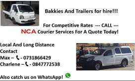 Bakkies and Trailers for hire...