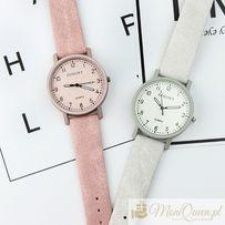 GOTOWY PREZENT-Skórzany zegarek ze skórzaną tarczą Walentynki