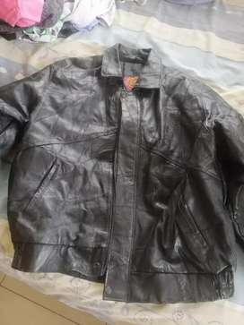 GENUINE LEATHER PATCH JACKET FOR SALE. R350. BLACK.