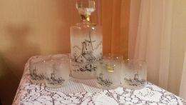 Набор для виски середины прошлого века (BOHEMIA, Чехословакия), новый