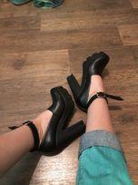 Туфли на каблуке из натуральной кожи 38