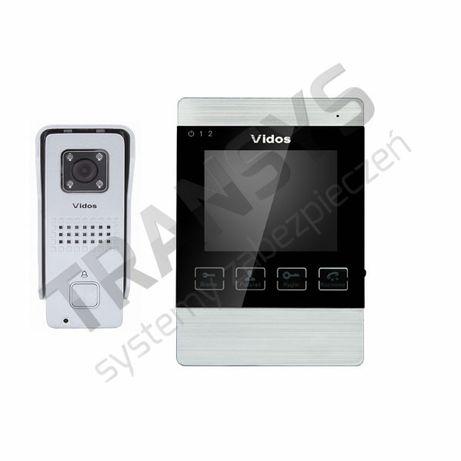 """Vidos M904S+S6 zestaw wideodomofonu monitor 4"""" z pamiecią Węgrów - image 1"""