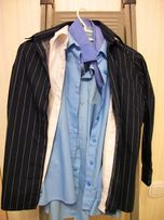 Рубашка темно-голубая - на р.140 см,