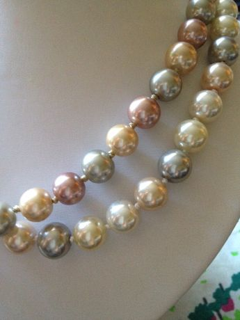 Naszyjnik kolia korale - sztuczne perelki w pasteliowych colorach. Sulejówek - image 3