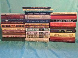 Разнообразные книги, в основном классика