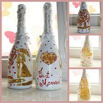 Роспись бутылок (свадьба,день рождения,декор в интерьер)