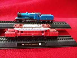 Collection of trains locomotives