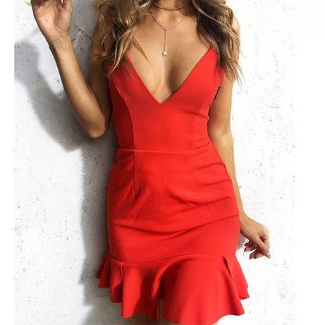 Czerwona sukienka wiązanie na plecach Gniezno - image 4