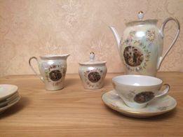 Чайный сервиз Мадонна, чашка, блюдце, кофейник, сахарница, молочник