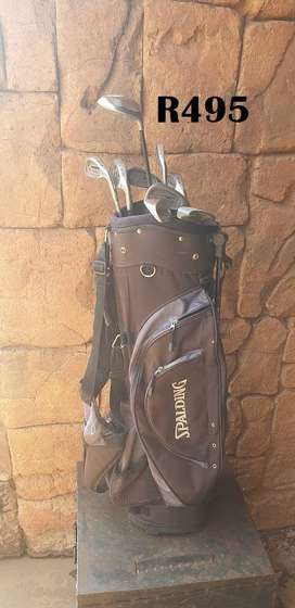 Spalding Golfbag with Clubs No 2