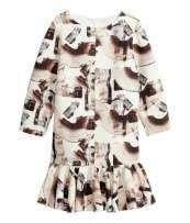 Sukienka h&m Trend falbana rozkloszowana scuba S nowa zara falbana
