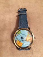 Часы Geneva карта мира. Новые