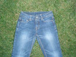 Узкие сине-голубые джинсы Denim, 122 см