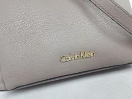 Torebka listonoszka CALVIN KLEIN beż torba mała elegancka ck