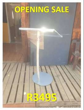 Silver/ Gold Single Pole Steel Pulpits Opening Specials