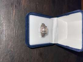 9 ct white gold engagement ring