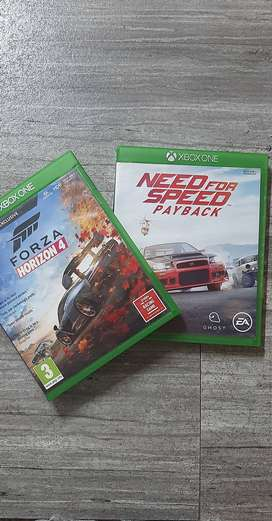 FORZA HORIZON 4 & NFS PAYBACK...XBOX 1...ABOUT A YEAR OLD