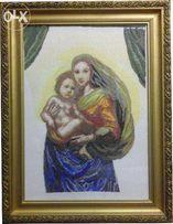 """Вышивка крестиком (крестом) """"Мадонна с младенцем"""""""
