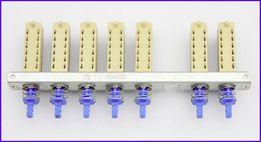 Izostat, selektor wejść, przełącznik zależny, 7-krotny (5+2) Unitra