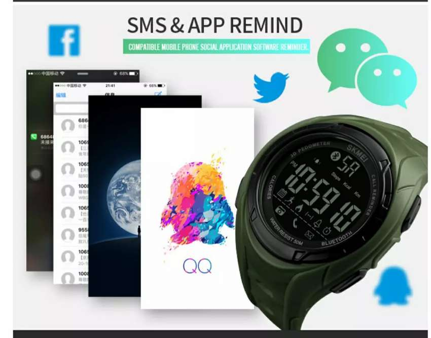 Skmei 1316 smart watch with Bluetooth 0