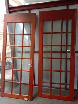 Wooden french doors (glass included)