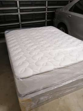 Queen size bed and base - Brand New
