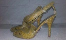 nine west- NOWE skórzane luksusowe szpilki, dł wkładki 25 cm