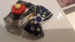 Spinka i gumka kokardka dla psa york maltańczyk