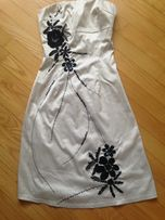Кремовое нарядное платье Bhs.Размер S(32-34)