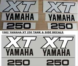 1982 Yamaha XT 250 decals sticker sets