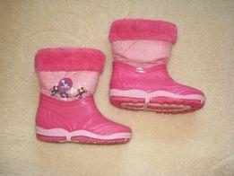 Buty zimowe Awards - śniegowce ocieplane dla dziewczynki rozm. 30