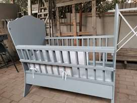Grey Ney Painted Cot