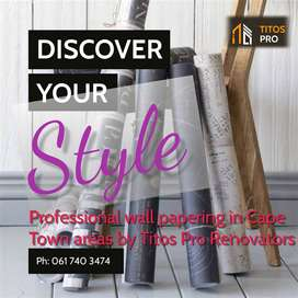 Embrace your style with Titos Pro Wallpapering in Cape Town areas.