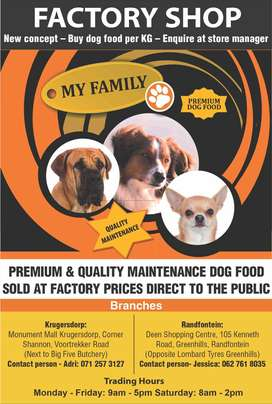 My Family Dog Food