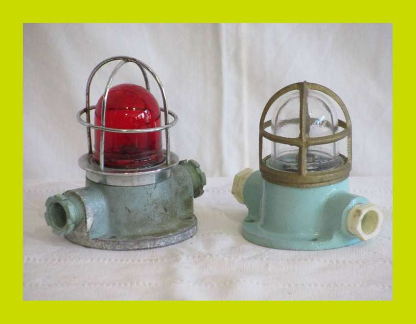 Ships Small Vintage Bulkhead Light, priced individually (SKU 196) 0