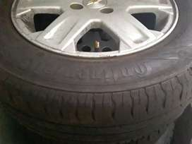 14inch chev utility continental tyres with original mag